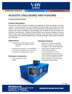 Acoustic Enclosures and Plenums