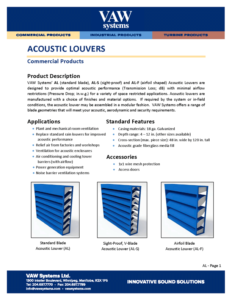 Acoustic Louvers Product Sheet