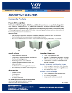 Absorptive Silencers Product Sheet
