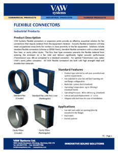Flexible Connectors Product Sheet