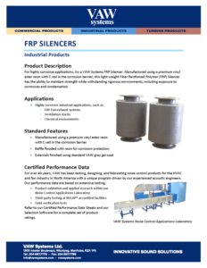 FRP Silencers Product Sheet