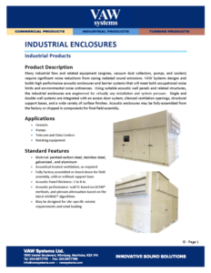 Industrial Enclosures Product Sheet