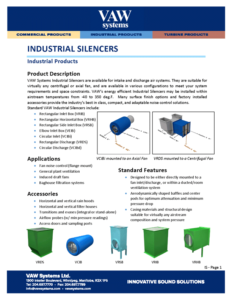 Industrial Silencers Product Sheet