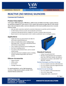 Reactive (No Media) Silencers Product Sheet